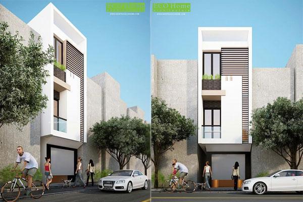 Thiết kế nhà phố 3 tầng Đồng Nai