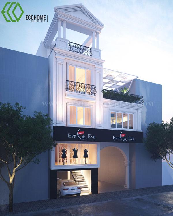 Thiết kế nhà phố đẹp Long An