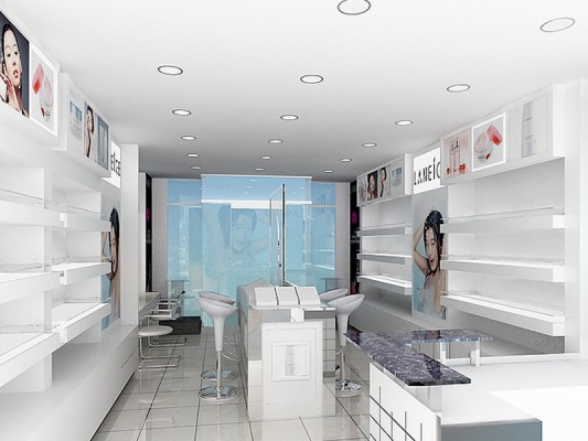 thiet ke showroom my pham 2