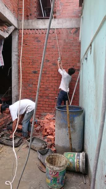 xây tường