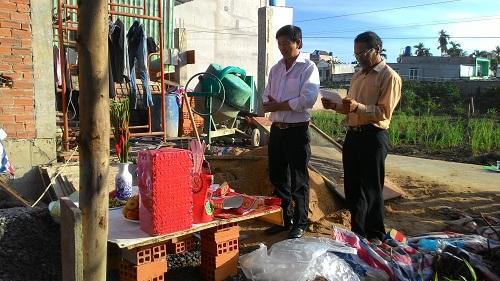 Cúng động thổ nhà chị Thuận