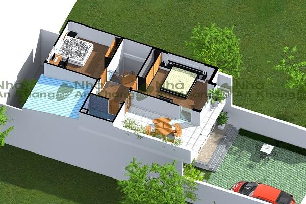 Thiết kế nhà phố 7x10.5m có sân vườn