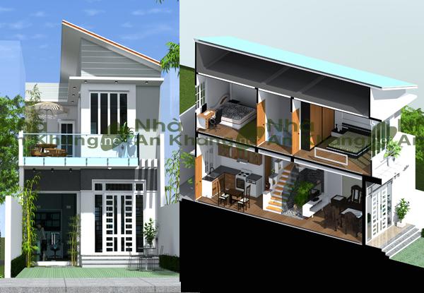 Thiết kế nhà phố 7×10.5m có sân vườn  CĐT: Đặng Văn Tưởng – Bình Dương
