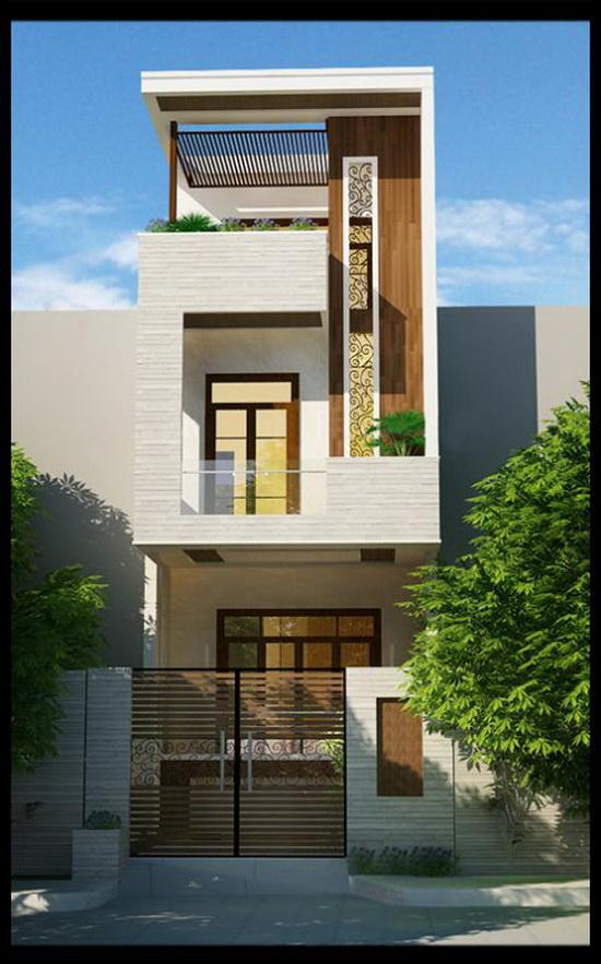Phong cách hiện đại với nhà phố 2 tầng, 3 phòng ngủ