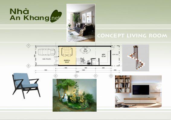 Concept nhà phố 5x15m 1 trệt 1 lầu 1 sân thượng cho CĐT: Anh Thìn – Gò Vấp