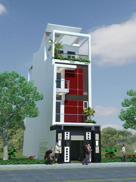 Thiết kế nhà phố 3 tầng 40m2 phong cách hiện đại