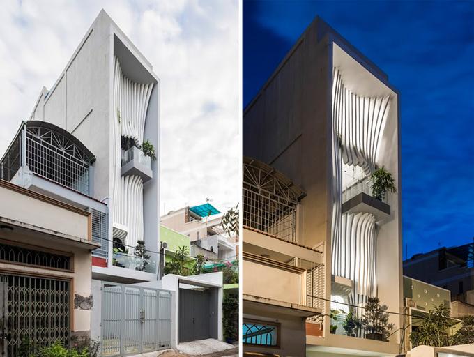 Thiết kế mặt tiền nhà phố đẹp thẩm mỹ