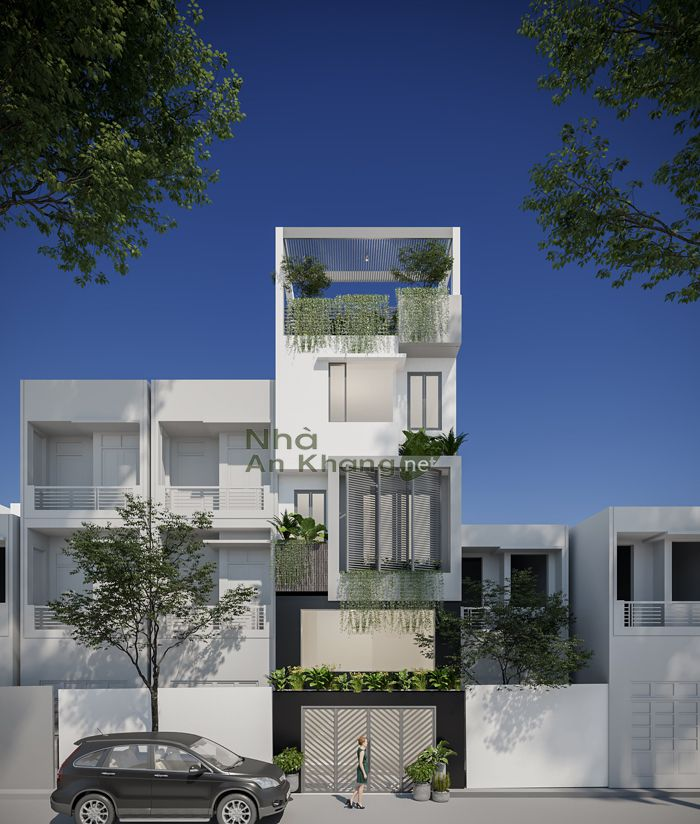 Mẫu nhà phố 4x15m 1 trệt 2 lầu thiết kế hiện đại thu hút anh nhìn