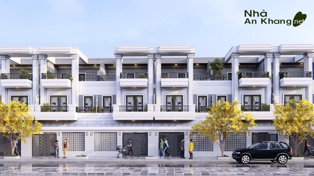 Mặt tiền nhà phố 3 tầng đẹp hiện đại được ưa chuộng năm 2021