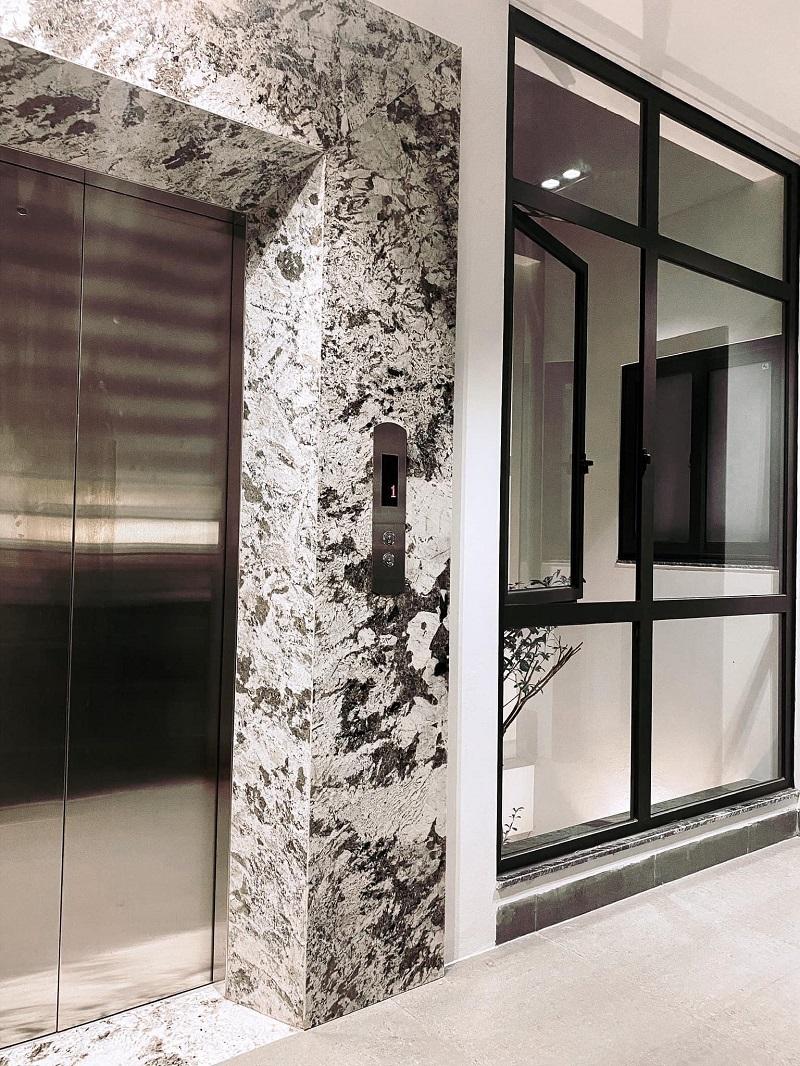 Chiêm ngưỡng nhà ống hiện đại 6 tầng kết hợp hài hòa thông thoáng