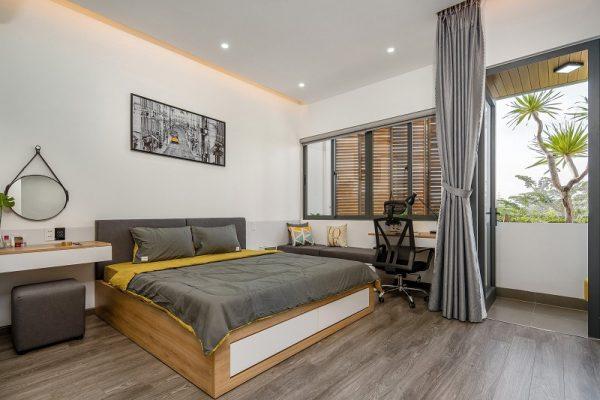 nội thất thực tế mẫu nhà 2 tầng 3 phòng ngủ diện tích 5x20m