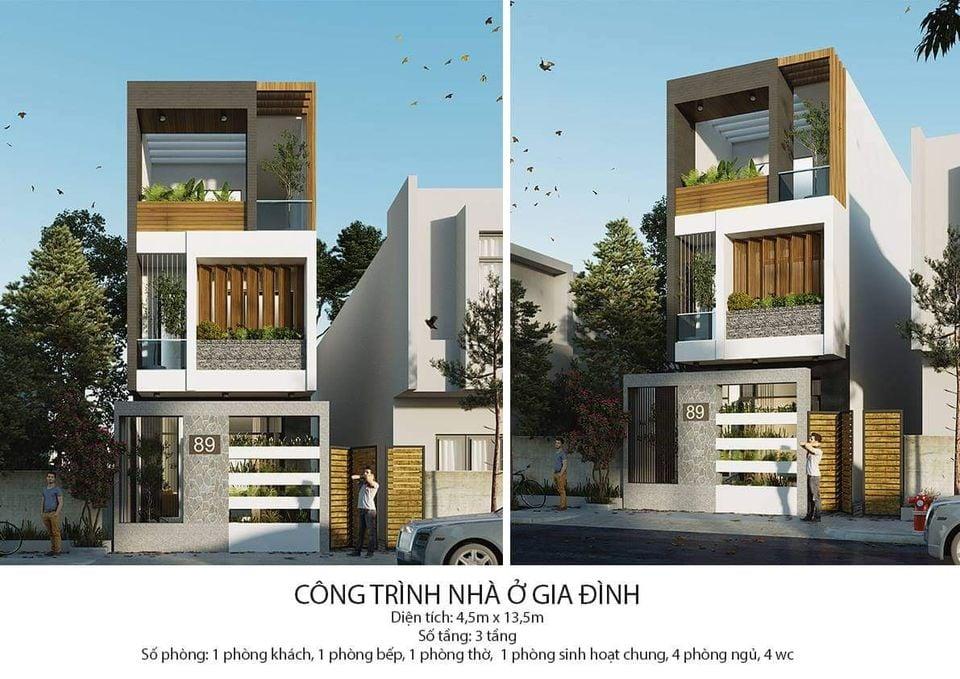 Mẫu nhà ở gia đình 3 tầng được xây dựng nhiều trong năm 2021