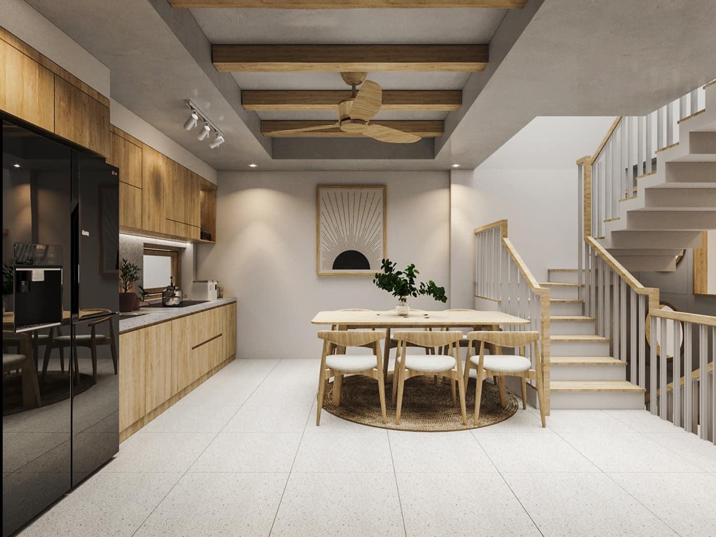 Thiết kế nội thất nhà ở theo phong cách Nhật Bản đơn giản mộc mạc