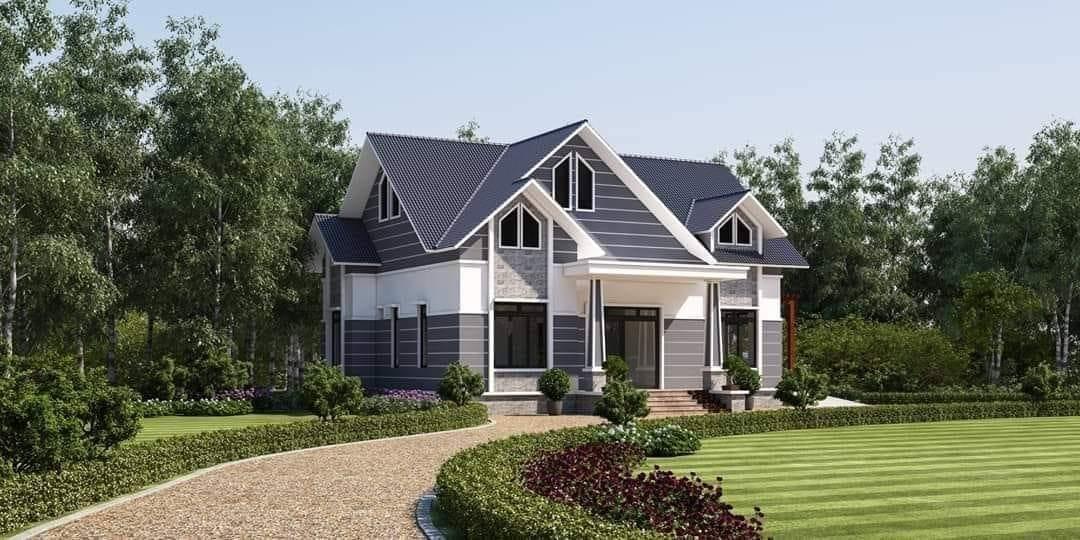 Top 10 mẫu nhà 1 tầng mái thái đẹp nhất có sân vườn năm 2021